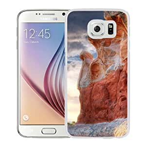 NEW Unique Custom Designed Samsung Galaxy S6 Phone Case With Valley Canyon Rocks_White Phone Case