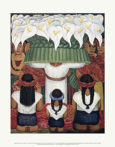Flower Festival: Feast of Santa Anita, 1931 by Diego Rivera Art Print, Size 11 x 14 inches