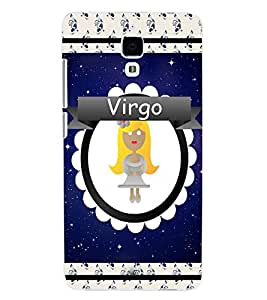 ColourCraft Zodiac Virgo Back Case Cover for XIAOMI MI 4