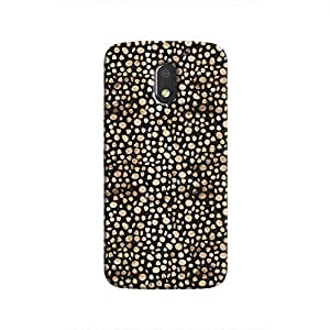 Cover It Up - Brown Black Pebbles Mosaic Moto E3 Hard Case