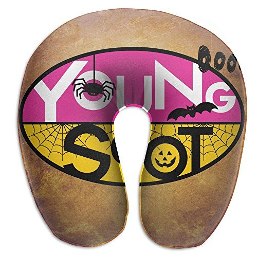 U Shape Travel Neck Pillow Soft U-Shape Memory Foam Travel Neck Pillow Neck Pillow For Travel Young Scot Ooooh Bat Spider Halloween U Neck Pillow Neck Pillow For (Event City Halloween)