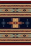 Traditional Area Rug, United Weavers Manhattan 5'x8' Phoenix Navy Blue