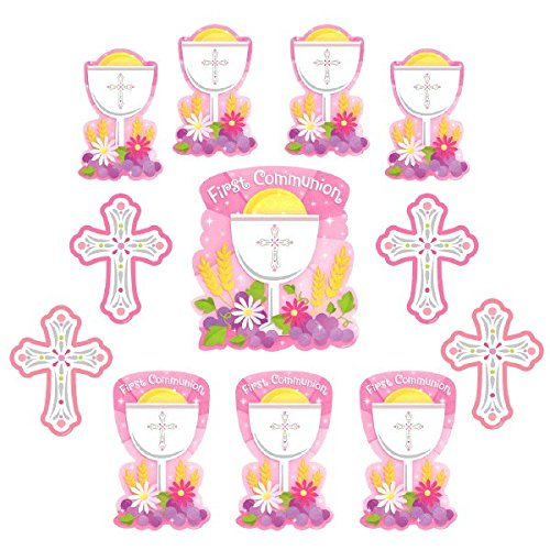 Amscan 190147 First Communion Value Pack Cutouts, Multi Sizes, Multicolor