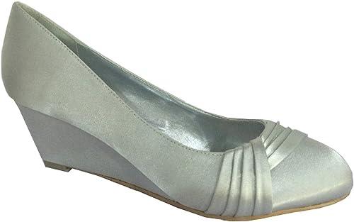 Chic Feet Ladies Womens Silver, Purple