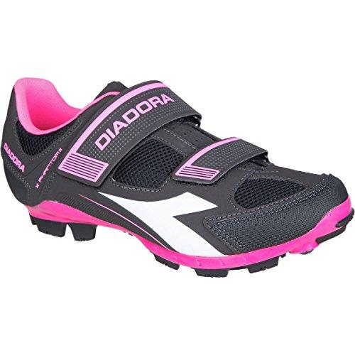 Diadora X-Phantom II Cycling Shoe - Women's Black/White/Pink Fluo, 37.0