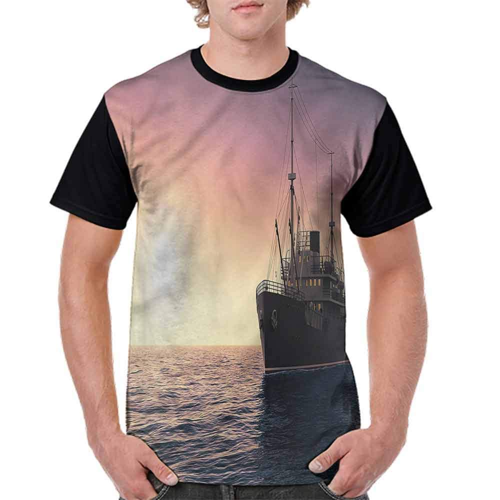 BlountDecor Performance T-Shirt,Lets Sail Quote Marine Fashion Personality Customization