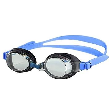 KONA81 Barracuda Gafas de Natación Goggles Triatlón Miopía Óptico Graduado Antiniebla Protección UV Anti-Rotura