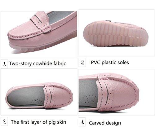 Cuero Zapatos De Primavera Planos Ocasionales Antideslizantes Verano Zapatos La Pink Nuevos Zapatos Koyi De Y Para Mujer AnB8wxfO