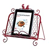 Iron Rooster Cookbook Or Tablet Stand-2pack