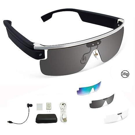 Amazon.com: Smart Bluetooth Gafas de carga tipo con lentes ...