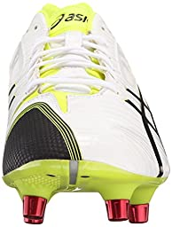 ASICS Men\'s GEL-Lethal Speed White/Black/Flash Yellow Rugby Shoe - 13 D(M) US