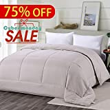 Beige Goose Down Alternative Twin XL\Twin Comforter - All Season, Fluffy, Warm, Soft & Hypoallergenic by shilucheng