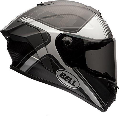 Bell Race Star Full-Face Motorcycle Helmet (Tracer Matte Black/Grey, Large)