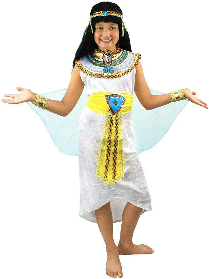 ILOVEFANCYDRESS Disfraz DE Reina del Nilo para NIÑAS Conjunto ...