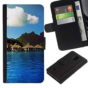 JackGot ( Natura Bella Forrest verde 114 ) Samsung Galaxy S5 Mini (Not S5), SM-G800 la tarjeta de Crédito Slots PU Funda de cuero Monedero caso cubierta de piel