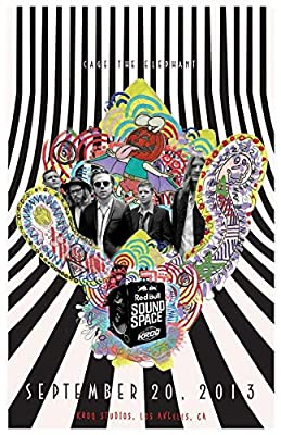 Get Motivation Cage The Elephant, an American Rock Band from Bowling Green, Kentucky, London, England, Matt Shultz, Brad Shultz 12 x 18 inch Poster