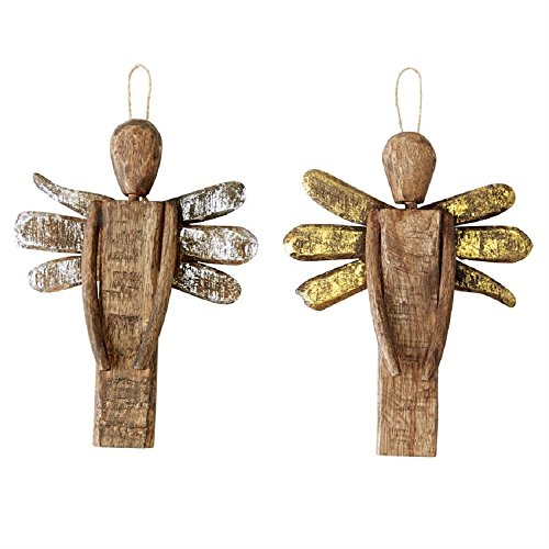 Foiled Angel Ornaments, Set of 2, 8