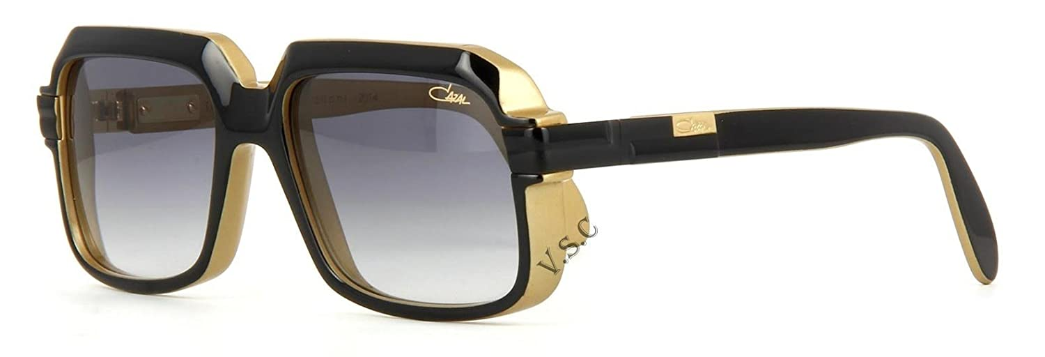 57c96d73dbe Amazon.com  CAZAL SUNGLASSES 607 900 TRIBUTE TO CARI ZALLONI BLACK AND GOLD  LIMITED EDITION  Clothing