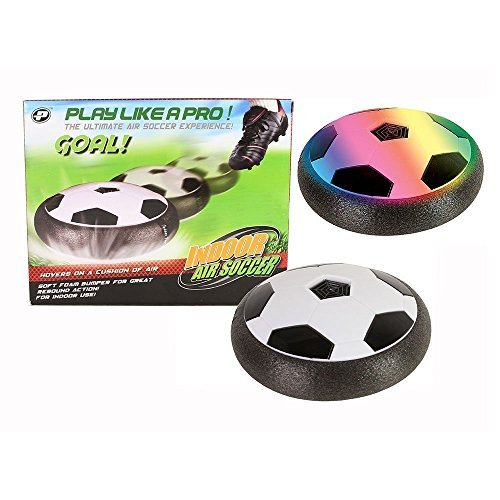 Air Power Soccer Disk, Indoor [Hover Action] Air Soccer with Foam Bumpers and LED Lights
