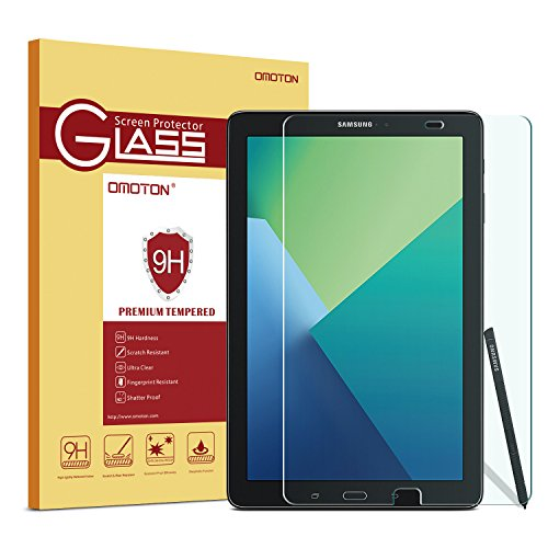 OMOTON Tempered Glass Screen Protector for Samsung Galaxy Tab A 10.1 S Pen Version Screen Protector. Only fits SM-p580/SM-p585 s Pen version ,1-Pack ()