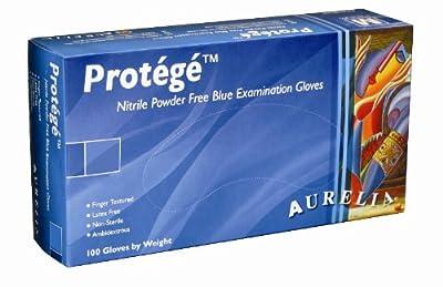 """Aurelia Protégé 9399 Nitrile Glove, Powder Free, 9.5"""" Length, 4 mils Thick"""