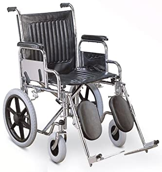 Excellent Amazon Com Transport Wheelchair With Chromed Steel Frame Bralicious Painted Fabric Chair Ideas Braliciousco