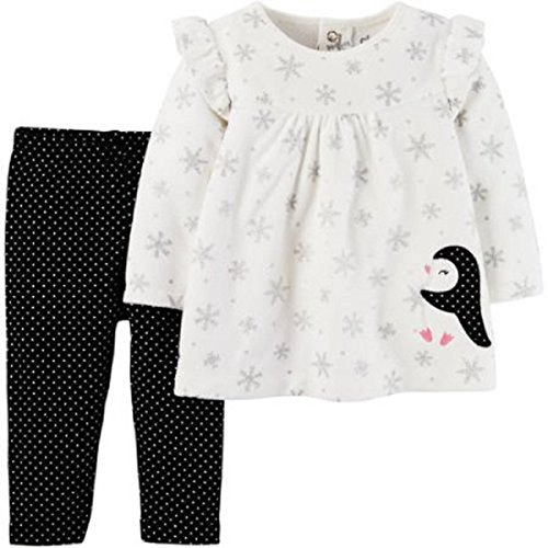 Child of Mine Newborn Baby Girl Long Sleeve Shirt and Pant Set ()