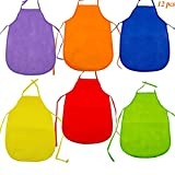 Children's Colorful Art Smocks Artists, Baker, Cook Aprons By Adorox 12 Pack