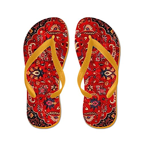 CafePress - Persian Mashad Rug - Flip Flops, Funny Thong Sandals, Beach Sandals Orange