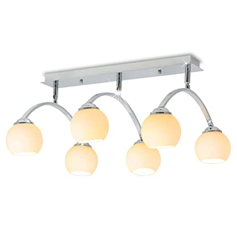 Weilandeal Lampara de techo con 6 bombillas LED G9 240 W lampara techo de cocinaPotencia maxima