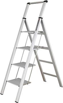 Stepladder Escalera plegable for uso doméstico, Escalera de aluminio de 4 escalones, Pedal extra grande, Escalera portátil multiusos for interiores/exteriores, Escalera de extensión 150 kg Carga - F: Amazon.es: Bricolaje y herramientas