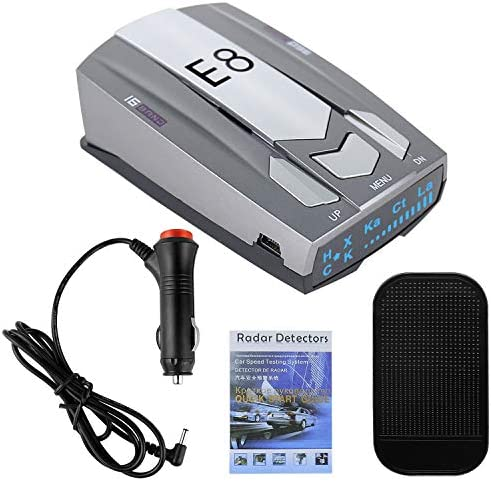 Radar Detectors for Cars, Police Radar Detector, Escort Radar Detector–Long Range Detection, Voice Alerts with LED Display, Gray