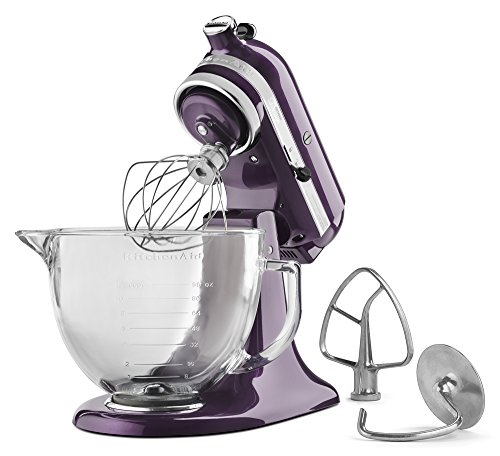 KitchenAid KSM155GBPB 5-Qt. Artisan Design Series with Glass Bowl - Plumberry by KitchenAid (Image #2)