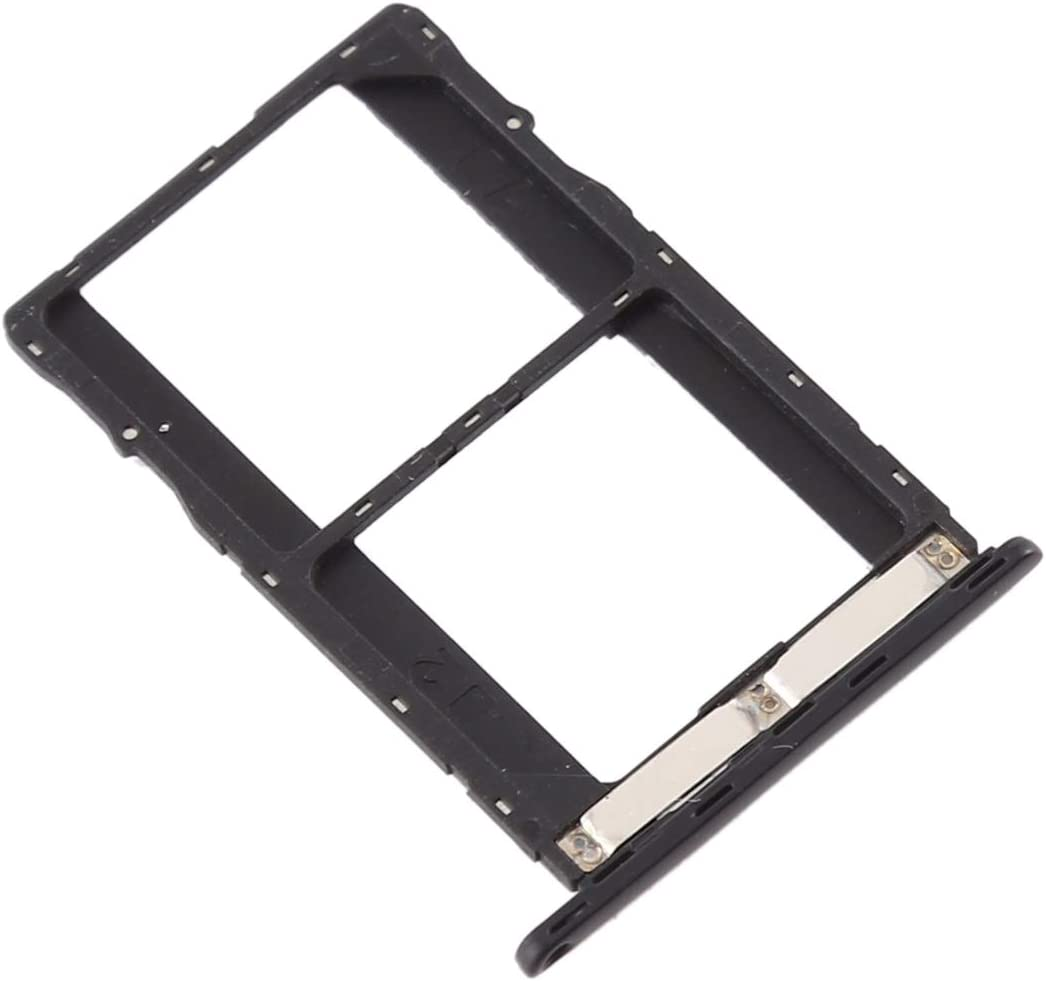 SIM Card Tray for Tenco Spark Plus K9 Replacement Color : Black XIAOMIN SIM Card Tray