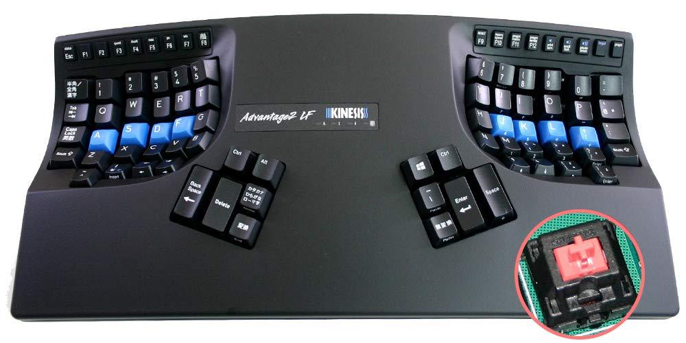生まれのブランドで Kinesis Advantage2 Advantage2 日本語配列モデル[KB600LFQ-JP]【キネシス B07N622ZWY アドバンテージ2赤軸静音(ピンク軸)】 B07N622ZWY, 超人気高品質:ebba9223 --- greaterbayx.co
