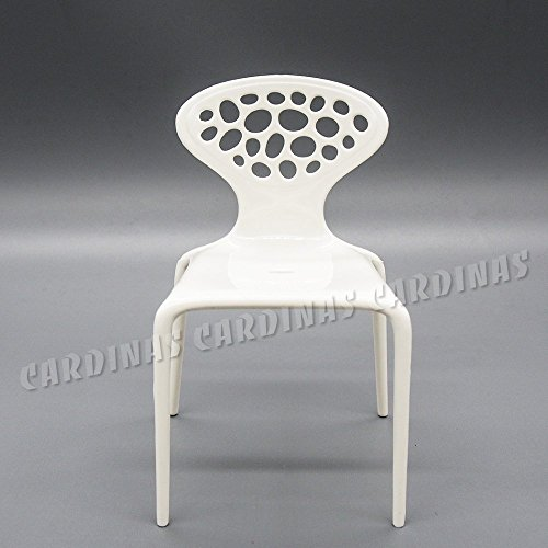 Odoria 1:6 Miniature White Backrest Chair for Barbie Size Dollhouse Furniture Accessories - 6 Backrest