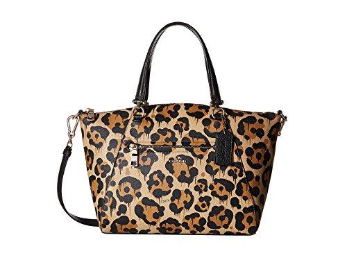 COACH Womens Leopard Ocelot Print Leather Prairie Satchel LI/Wild Beast - Animal Coach Print Bag