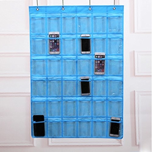 Spacehome@ 36-Pocket Classroom Pocket Chart Cellphone Pocket Chart Holder Wall Door Hanging Organizer CPC-5 (blue)