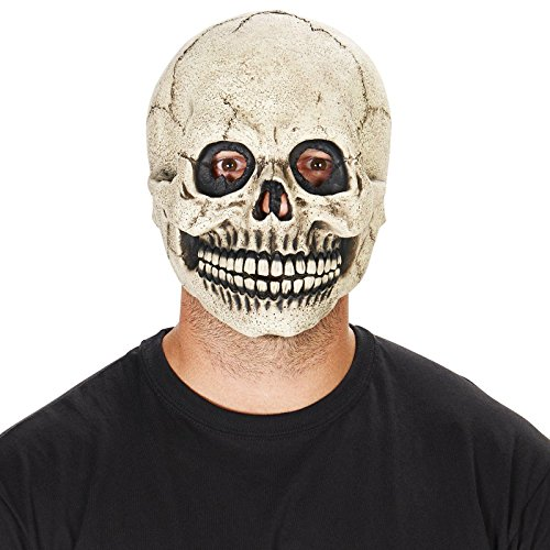 White Skull Adult Mask (Skeleton Halloween Mask)