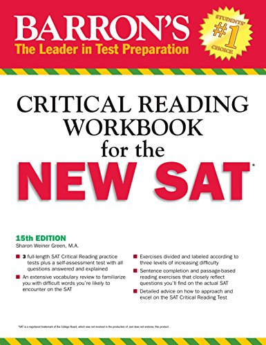 Barron's Reading Workbook for the NEW SAT (Critical Reading Workbook for the Sat)