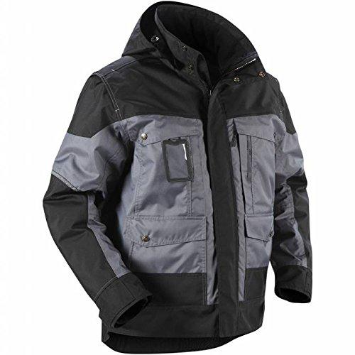 Blåkläder Workwear Winterjacke mit Kapuze 4886, grau / schwarz, S, 1 Stück, 67-48861977-9499-S
