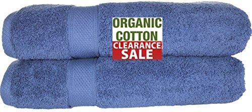 100% Organic Turkish Cotton Eco-Friendly Premium Quality Luxury Hotel & Spa Turkish Towels Super Soft, Plush, Ultra Absorbency & Quick dry. By Aspendos Linen (Bath Sheet- Set of 2, (Long Organic Plush)