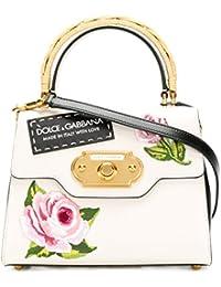 Women's BB6374AH5348L116 White Leather Handbag