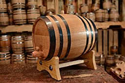 20-Liter American Oak Barrel | Handcrafted using American White Oak | Age your own Whiskey, Beer, Wine, Bourbon, Tequila, Hot Sauce & More