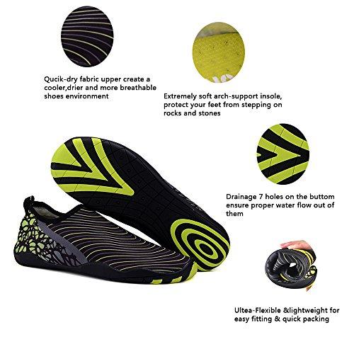 UNN Wasser Schuhe Multifunktionale Quick-Dry Barfuß Flexible Haut Aqua Socken für Beach Swim Surf Yoga Übung Dunkelgrau