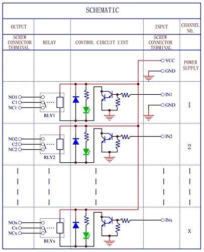 10A Relay 12V Coil. Electronics-Salon DIN Rail Mount 8 SPDT Power Relay Interface Module