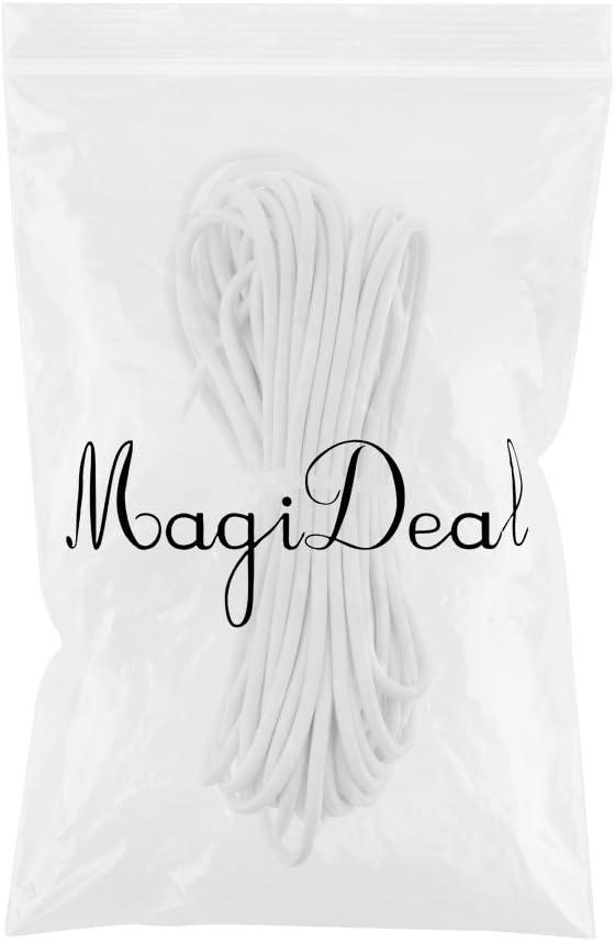 MagiDeal Elastische Bungee Rope Expanderseil Gummiseil Planenseil Spannseil /Ø 2mm Schwarz//Wei/ß