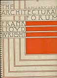 img - for The Architectural Forum. Frank Lloyd Wright. January 1938. Vol.68 - No. 1 book / textbook / text book