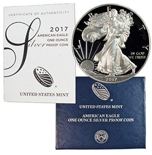 2017 W American Silver Eagle With Velvet Box & COA .999 Fine Silver $1 Proof US (Pure Silver Proof Coin)