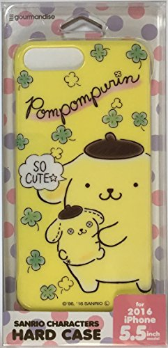(Sanrio Characters series Hard Case with Strap hole for iPhone 8Plus / 7Plus / 6Plus / 6sPlus 5.5inch model (Pompompurin))